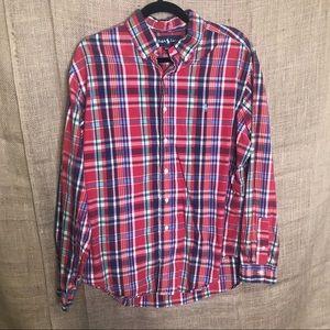 Ralph Lauren Plaid Button Down Shirt XL Flannel